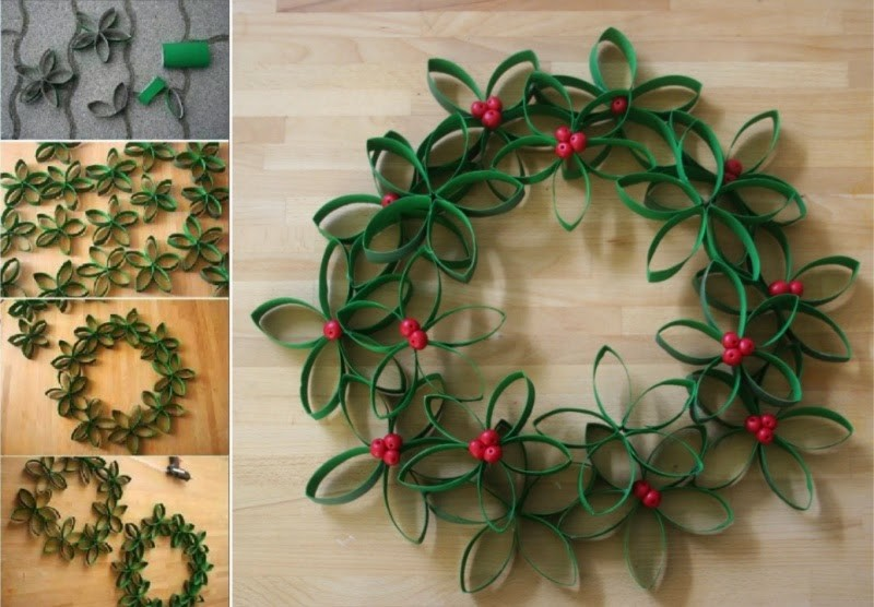 Christmas-Toilet-Roll-Wreath